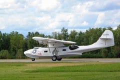 Catalina Seaplane Landing Stock Photo