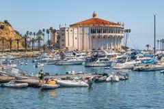 Catalina wyspy kasyno, Avalon, CA obraz royalty free