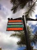Catalina wyspy znak uliczny Fotografia Stock