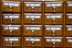 Catalog card. Stock Photo