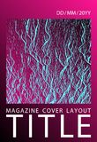 Catalog cover vector template. Plastic pink black blue synthwave texture. Marketing catalog trendy layout design. royalty free illustration
