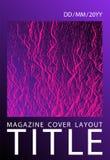 Catalog cover vector template. Plastic pink, proton purple esports texture. Marketing catalog trendy layout design. Buzzing flux ripple movement background vector illustration
