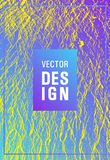 Catalog cover vector template. Violet blue yellow arthouse effect texture. Company strategy book cover. Buoyant wavy flux background pattern. Marketing catalog royalty free illustration