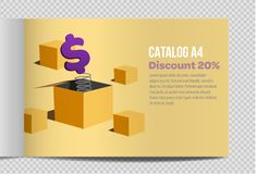 Fast vector catalog A4 sheet illustration promotion royalty free illustration