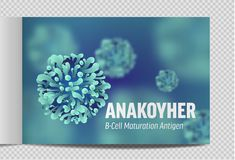 Catalog A4 microbiology and viruses. 3d microscopic. Bacteria. Vector royalty free illustration