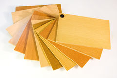 Catalog wood colors on white Royalty Free Stock Images