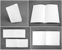 Catalogo in bianco, opuscolo, riviste, derisione del libro su fotografie stock libere da diritti