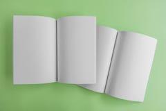 Catalogo in bianco, rivista, modello del libro con le ombre molli aspetti Immagini Stock