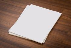 Catalogo in bianco, riviste, derisione del libro su fotografia stock libera da diritti