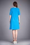 Catalogo dei vestiti di modo per i acces casuali della raccolta di estate del vestito dal cotone di seta del partito della passeg Immagine Stock Libera da Diritti