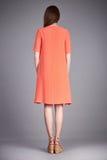 Catalogo dei vestiti di modo per i acces casuali della raccolta di estate del vestito dal cotone di seta del partito della passeg Immagini Stock Libere da Diritti