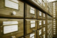 Catalogo delle biblioteche fotografia stock