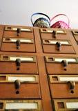 Catalogo di carta con i canestri di Pasqua fotografia stock