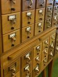 Catalogo di carta delle biblioteche Immagine Stock