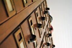 Catalogo di carta delle biblioteche fotografie stock libere da diritti