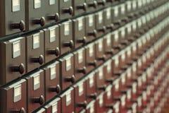 Catalogo di legno fotografia stock