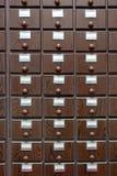 Catalogo di legno immagine stock