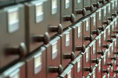 Catalogo di legno immagini stock