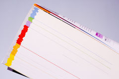 Catalogue with colored pages Stock Images