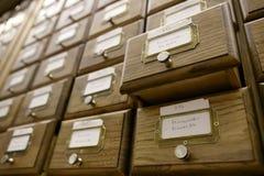 Catalogue de bibliothèque Photographie stock