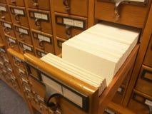 Catalogue de carte - un tiroir Images libres de droits