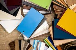 Catalogue des échantillons de matériaux photographie stock