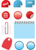 Catalogue design elements. Set of price tags, peeling labels and labels for catalogue design Stock Image
