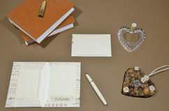 Catalogue design. Writing. Letters Royalty Free Stock Images