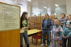 Catalogue sur fiches de bibliothèque Images libres de droits
