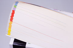 Catalogus met gekleurde pagina's Royalty-vrije Stock Afbeelding