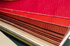Catalogus van multicolored kunstleer van de textuurachtergrond van de matwerkstof, de textuur van de kunstleerstof royalty-vrije stock foto