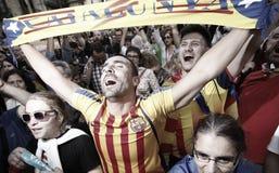 Catalona republiki dzień niepodległości Zdjęcia Stock