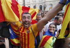 Catalona republiki dzień niepodległości Obrazy Stock