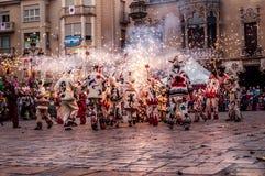 CataloniaÂ的传统庆祝 免版税库存照片