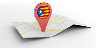 Catalonia översiktsmarkör på vit bakgrund illustration 3d Royaltyfria Foton