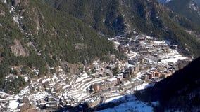 Catalonia Andorra los angeles Vella, g?rska wioska z perkkasnym widokiem g?rskim zbiory