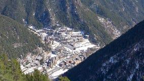 Catalonia Andorra los angeles Vella, g?rska wioska z perkkasnym widokiem g?rskim zdjęcie wideo