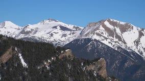 Catalonia Andorra losu angeles vella, pi?kne ?nie?ne g?ry zdjęcie wideo