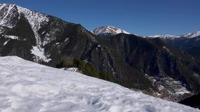 Catalonia Andorra losu angeles vella, pi?kne ?nie?ne g?ry zbiory wideo