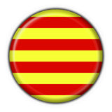 Catalonia button flag round  Stock Images