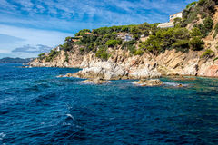 Catalonia coast. Sea views of the coast of Lloret de Mar Royalty Free Stock Photo