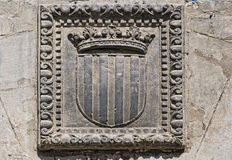 Catalonia Coat of stone. Royalty Free Stock Photo