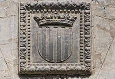 Catalonia Coat of stone. In Barcelona, Spain Royalty Free Stock Photo