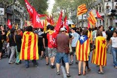 catalonia dagnational royaltyfria foton