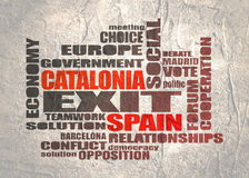 Catalonia exit from Spain political process Stock Images