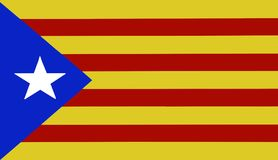 Catalonia flag. Independence, Colors view Royalty Free Stock Photos