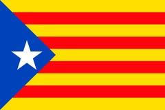 Catalonia flag sign background Royalty Free Stock Photos