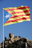 Catalonia flag Stock Photography