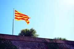 Catalonia flaga Zdjęcie Royalty Free