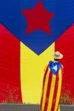 Catalonia flagga Arkivbild